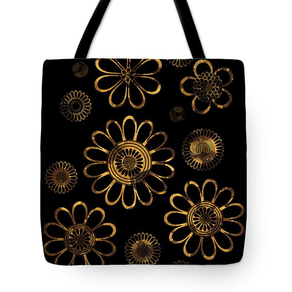 Golden Flowers Tote Bag by Frank Tschakert