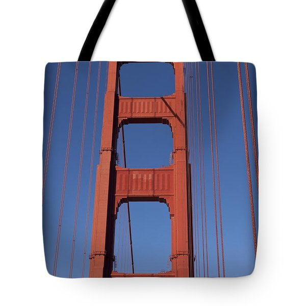 Golden Gate Bridge Tower Tote Bag by Garry Gay