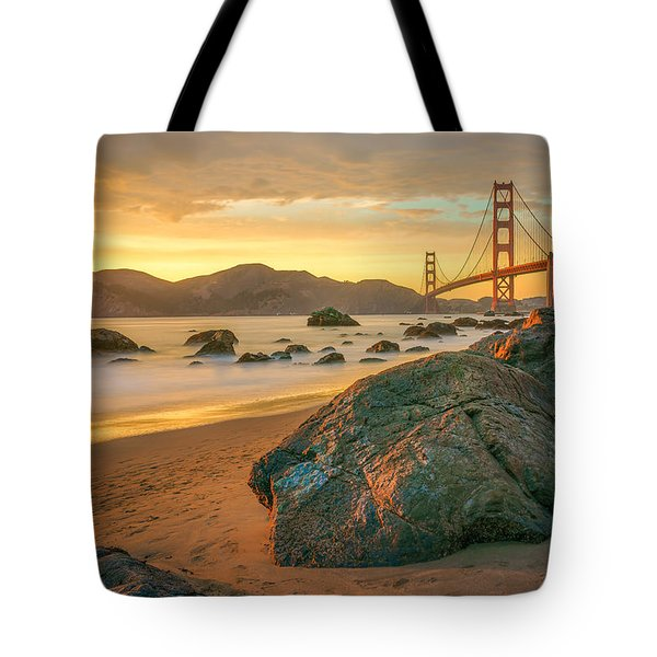 Golden Gate Sunset Tote Bag by James Udall