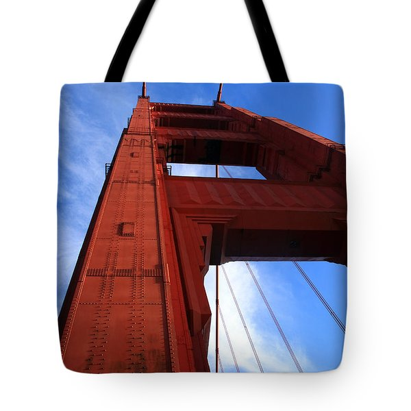 Golden Gate Tower Tote Bag by Aidan Moran