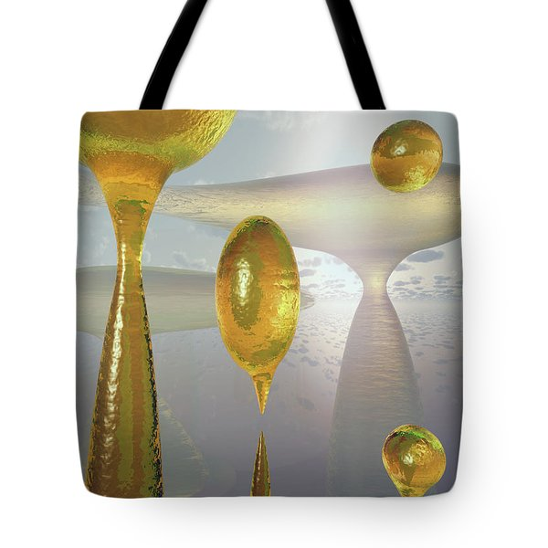 Golden Globs Tote Bag by Richard Rizzo