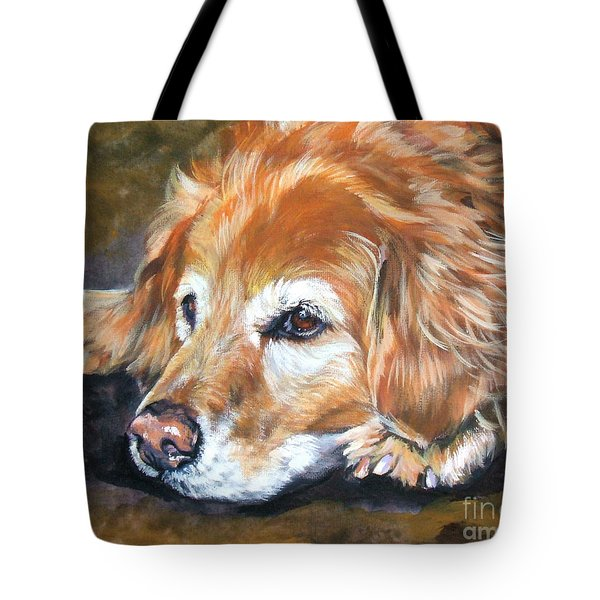 Golden Retriever Senior Tote Bag by Lee Ann Shepard