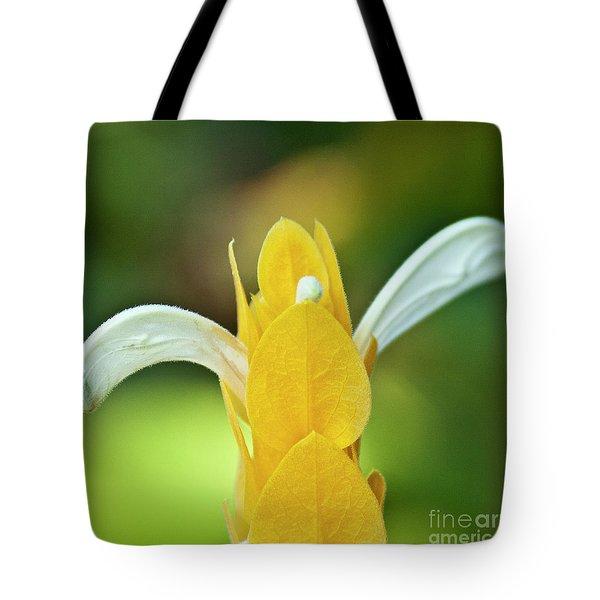 Golden Shrimp Plant Tote Bag by Heiko Koehrer-Wagner