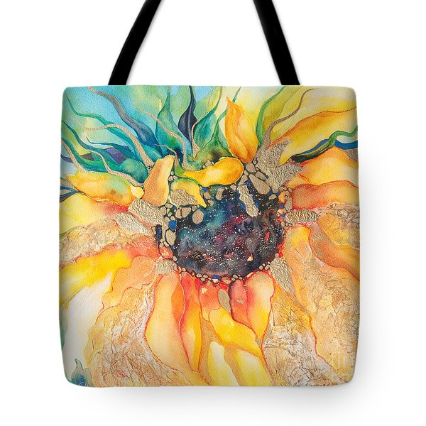 Golden Sunflower Tote Bag by Kate Bedell