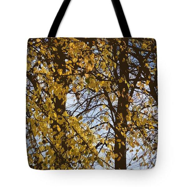 Golden Tree 2 Tote Bag by Carol Lynch