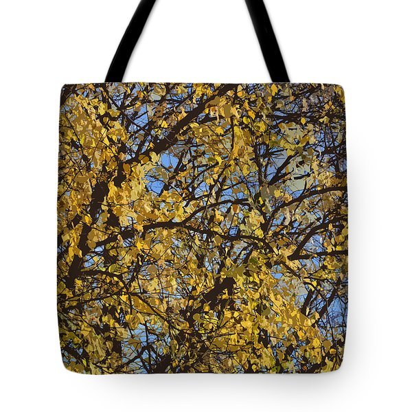 Golden Tree 3 Tote Bag by Carol Lynch