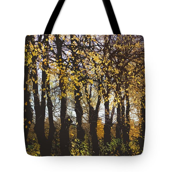 Golden Trees 1 Tote Bag by Carol Lynch