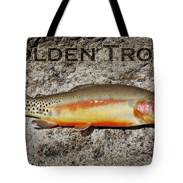 Golden Trout Tote Bag by Kelley King