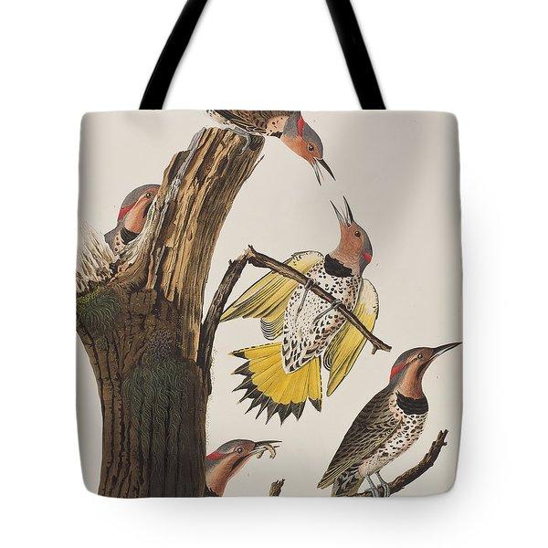 Golden-winged Woodpecker Tote Bag by John James Audubon