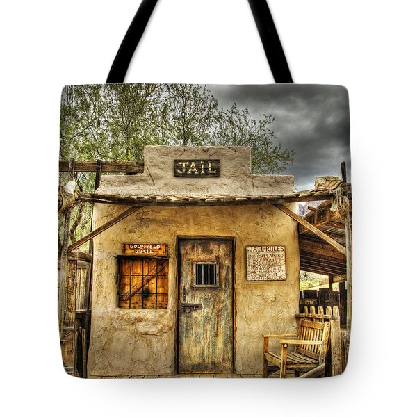Goldfield Ghost Town - Jail  Tote Bag by Saija  Lehtonen