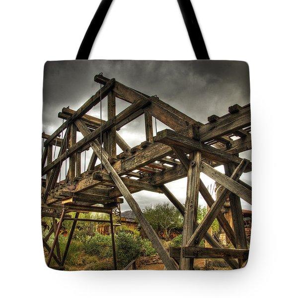 Goldfield Ghost Town - The Bridge Tote Bag by Saija  Lehtonen