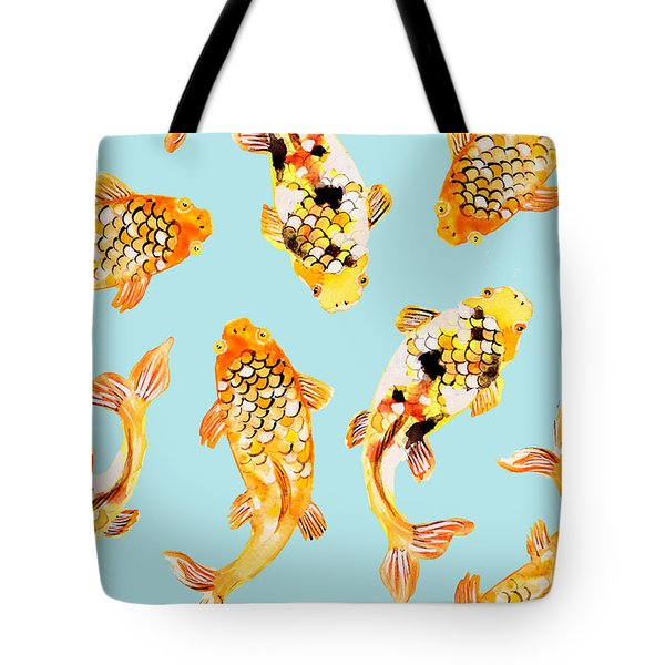 Goldfish Tote Bag by Uma Gokhale