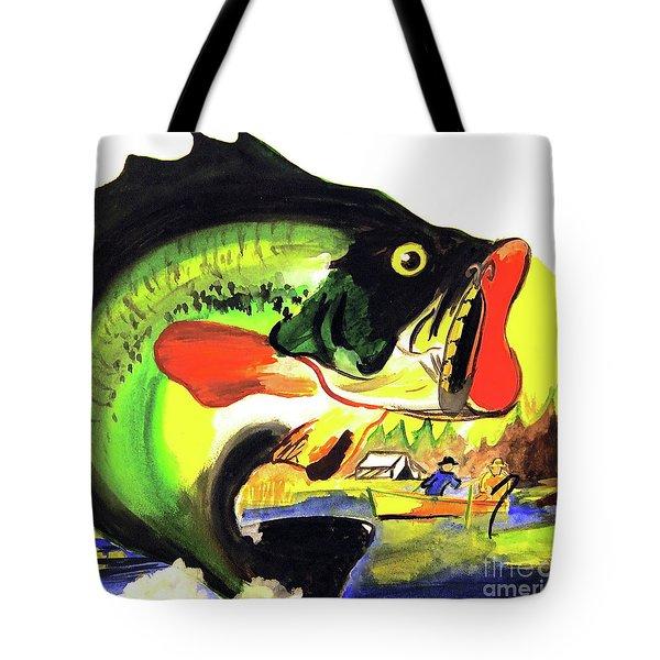 Gone Fishing Tote Bag by Linda Simon