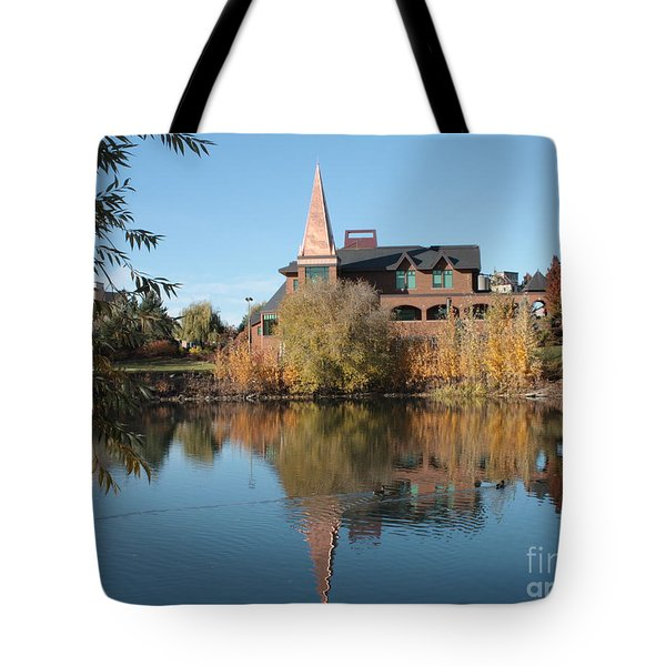 Gonzaga Art Building Tote Bag by Carol Groenen