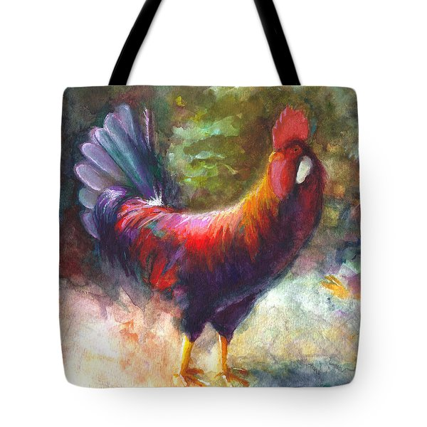 Gonzalez The Rooster Tote Bag by Talya Johnson