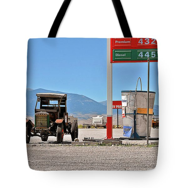 Good bye Death Valley - The End of the Desert Tote Bag by Christine Till
