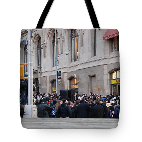 GOOD FRIDAY ON TRINITY PLACE Tote Bag by ROB HANS
