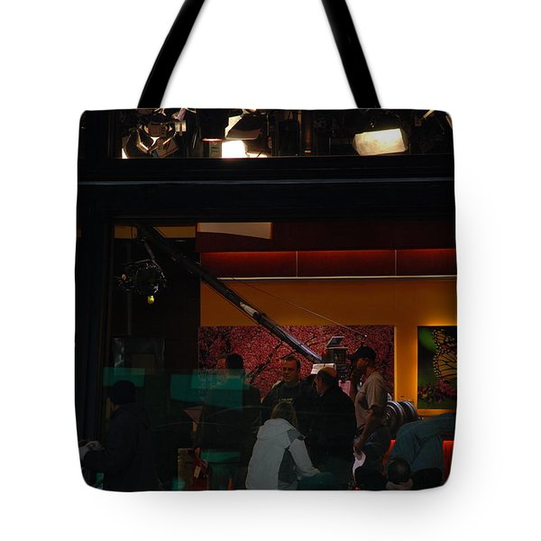 Good Morning America Commercial Break Tote Bag by Rob Hans