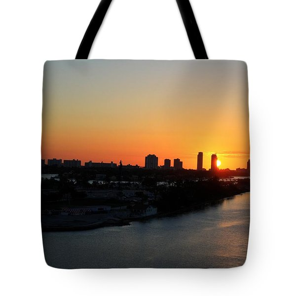 Good Morning Miami Tote Bag by Shelley Neff