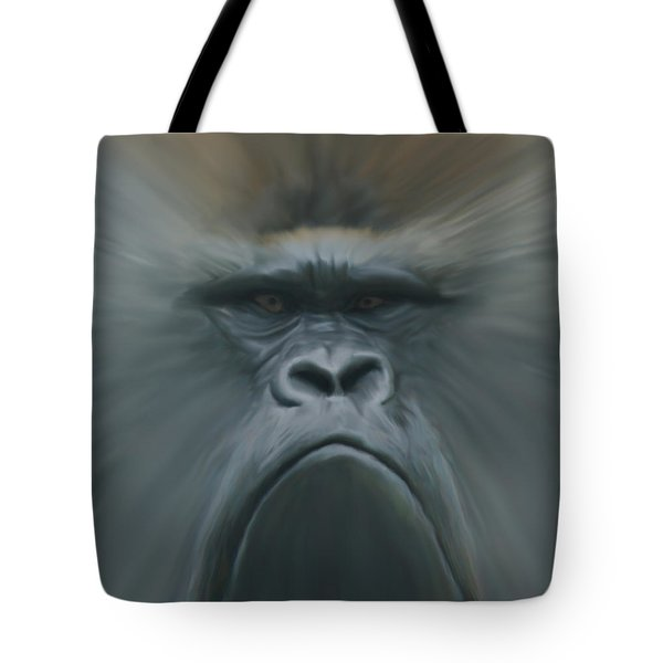 Gorilla Freehand Abstract Tote Bag by Ernie Echols