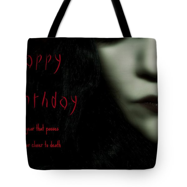 Goth Birthday Card Tote Bag by Lisa Knechtel