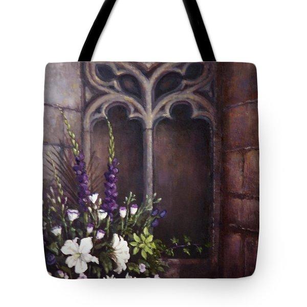 Gothic Wedding Bouquet Tote Bag by Sean Conlon