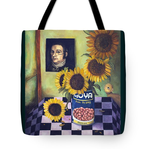 Goyas With Lettering Tote Bag by Leah Saulnier The Painting Maniac