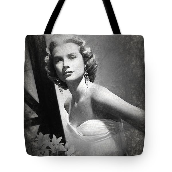 Grace Kelly Drawing Tote Bag by Quim Abella