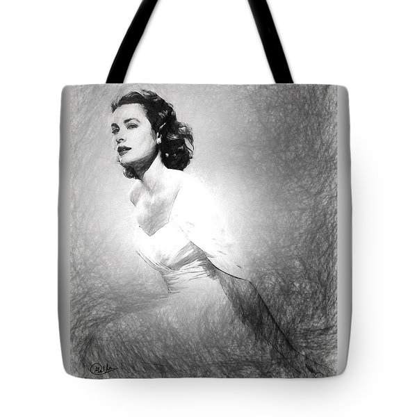 Grace Kelly Sketch Tote Bag by Quim Abella