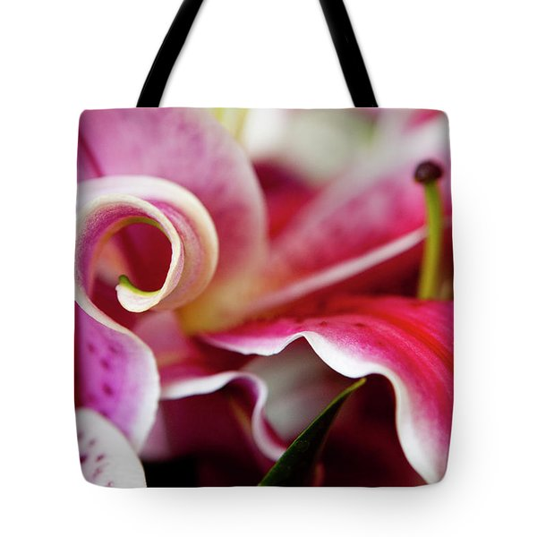 Graceful Lily Series 25 Tote Bag by Olga Yakimenko