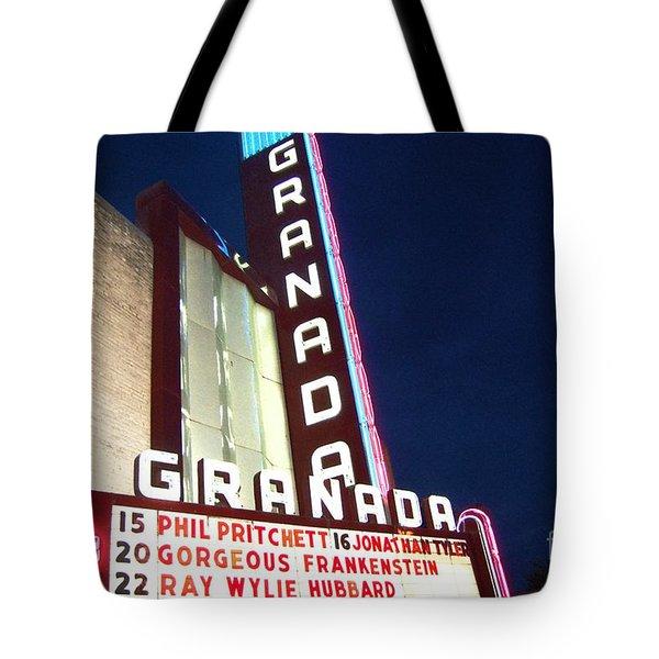 Granada Theater Tote Bag by Debbi Granruth