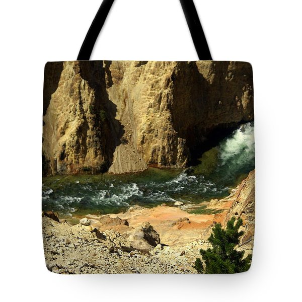 Grand Canyon Of The Yellowstone 3 Tote Bag by Marty Koch