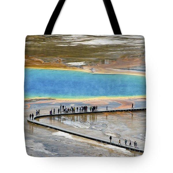 Grand Prismatic Spring Tote Bag by Teresa Zieba