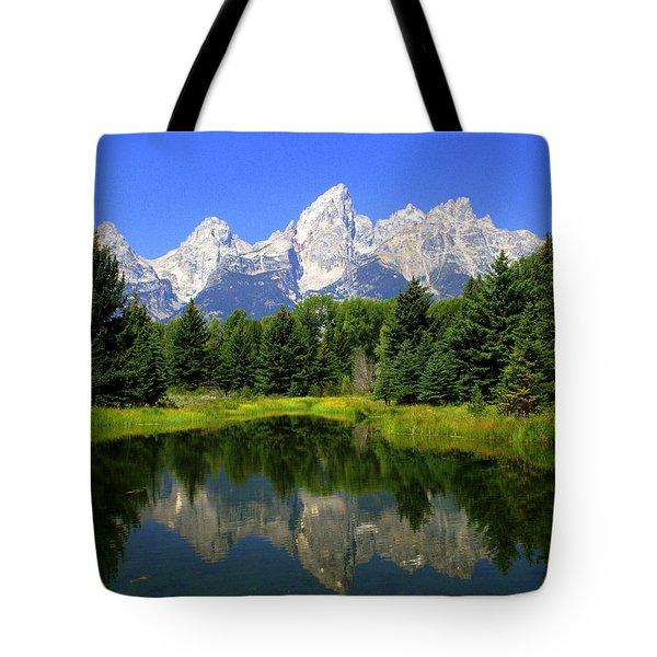 Grand Tetons 2 Horizontal Tote Bag by Marty Koch