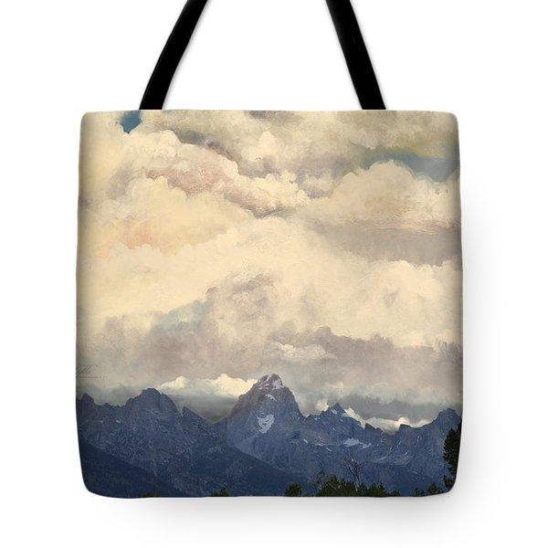 Grand Tetons  Sky Tote Bag by Suzette Kallen