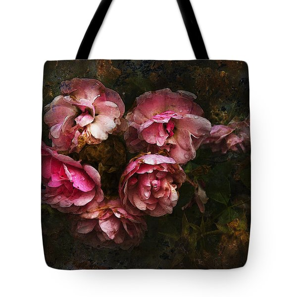 Grandmother's Roses Tote Bag by Ron Jones