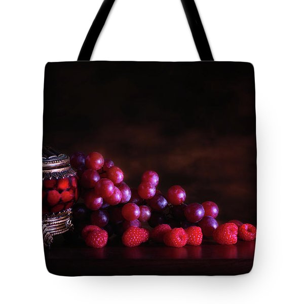 Grape Raspberry Tote Bag by Tom Mc Nemar