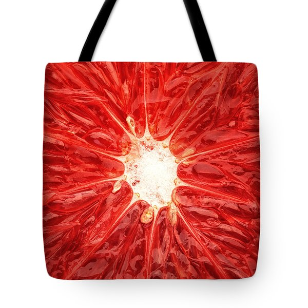 Grapefruit Close-up Tote Bag by Johan Swanepoel
