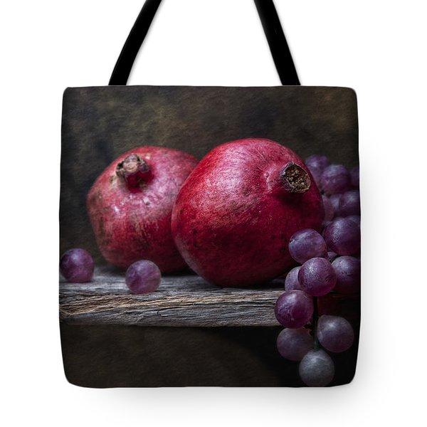Grapes With Pomegranates Tote Bag by Tom Mc Nemar