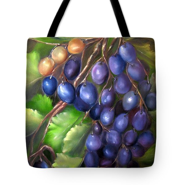 Grapevine Tote Bag by Carol Sweetwood