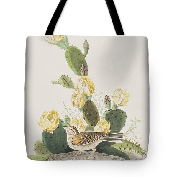 Grass Finch Or Bay Winged Bunting Tote Bag by John James Audubon