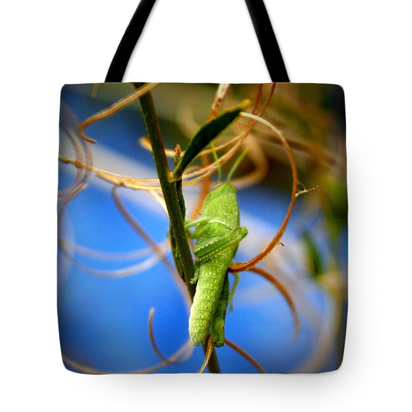 Grassy Hopper Tote Bag by Chris Brannen
