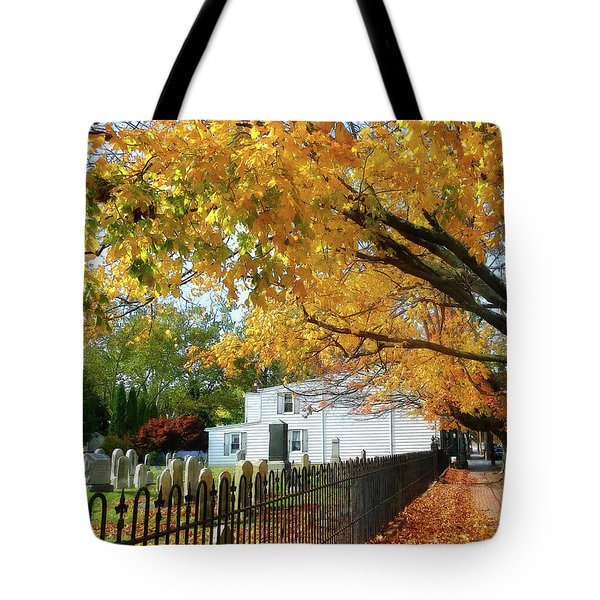 Graveyard In Autumn Tote Bag by Susan Savad