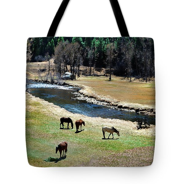 Grazing 2 Tote Bag by Angelina Vick