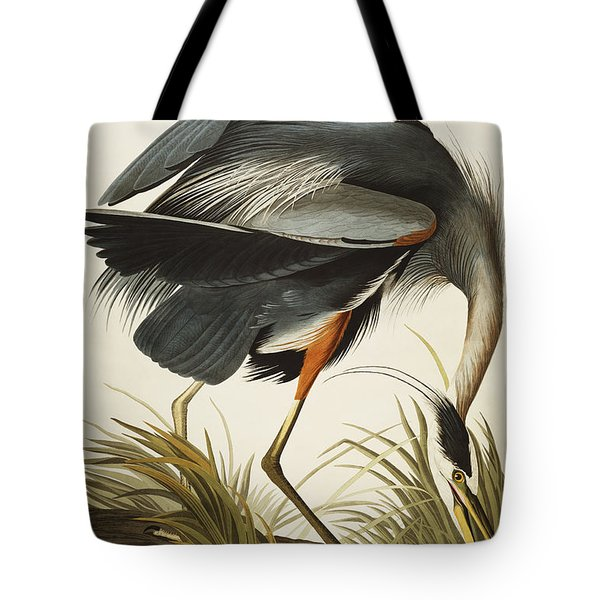 Great Blue Heron Tote Bag by John James Audubon