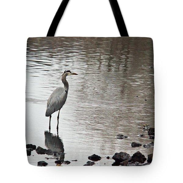 Great Blue Heron Wading 2 Tote Bag by Douglas Barnett