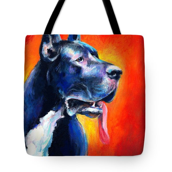 Great Dane dog portrait Tote Bag by Svetlana Novikova
