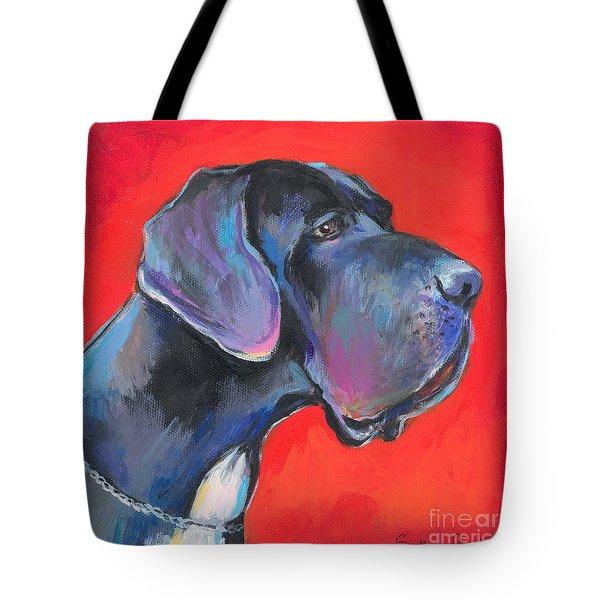 Great Dane Painting Tote Bag by Svetlana Novikova