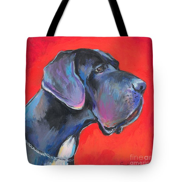 Great dane painting Tote Bag by Svetlana Novikova
