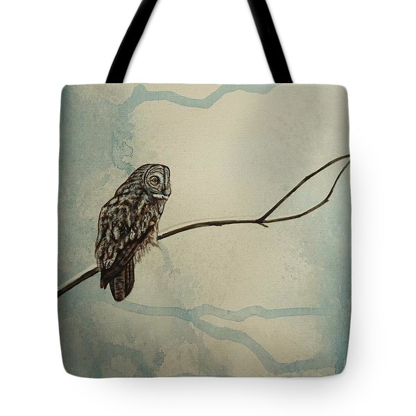 Great Gray Owl Tote Bag by Lucy Deane